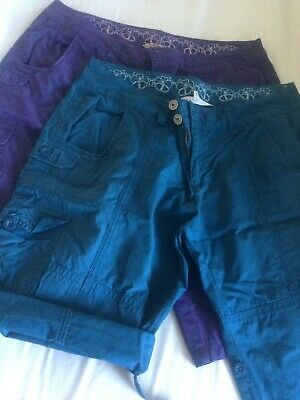 Ladies Mantaray Knee Length Cotton Shorts. Size 16. X 2 • 3.99£