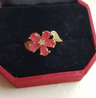 AU26.16 • Buy Unwanted Christmas Present Gift Engagement 18K Gold Plated  Ring 9/Q