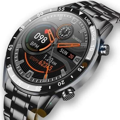 AU79.99 • Buy Full Touch Screen Waterproof Bluetooth Sports Fitness Smart Watch Men For Androi