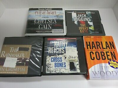 $ CDN6.31 • Buy Lot Of 5 Audiobooks On CDs -  Fiction, Category - Mysteries  & Thrillers #134