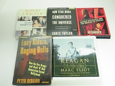 $ CDN8.20 • Buy Lot Of 5 Audiobooks On CDs -  Nonfiction, Category - Hollywood  Lot #135
