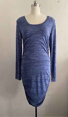 AU45 • Buy Ripe Maternity Textured Knit Cocoon Dress In Blue, Size L.