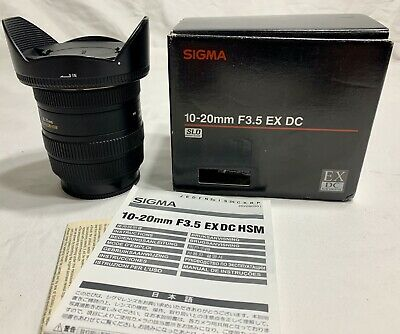 AU0.99 • Buy Sony Camera Lens Sigma, Sony A-mount Fitting Ultra Wide Angle Lens 10-20mm F3.5