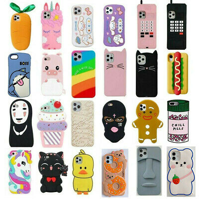 AU3.67 • Buy Case Cover For IPhone 11 Pro Max 7 8 Plus XR Touch Cute 3D Cartoon Silicone Kids