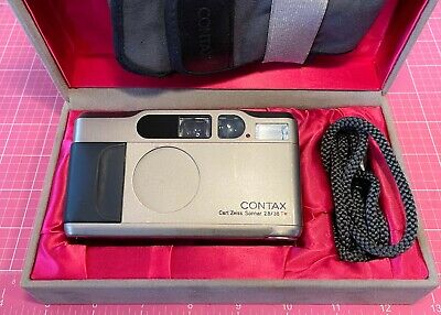 $ CDN1215.34 • Buy Contax T2 With Data Back Box, Straps, Leather Cover