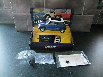 Scalextric Sport The Italian Job  Blue Mini Cooper Limited Edition. Spares Or Re • 5.50£