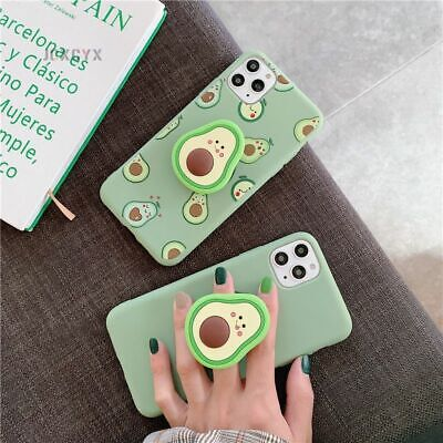 AU9.82 • Buy Avocado Phone Case For Iphone 3D Fruit Cartoon Luxury Cute Silicone With Holder