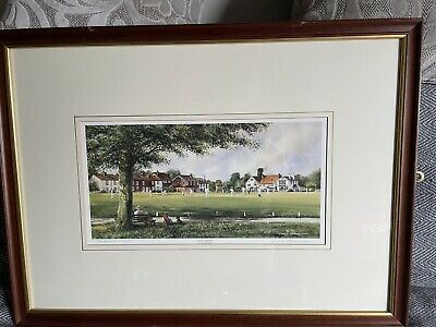£75 • Buy Framed Sunday Cricket By Terry Harrison