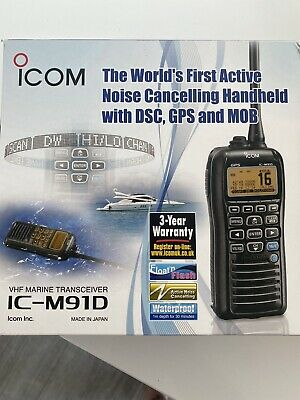 Icom M91D VHF Marine Transceiver With Active Noise Cancelling, DSC, GPS And MOB • 150£