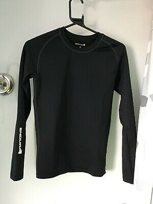 3 X Endura Small Frontline Base Layer Running Cycling Top Thermal Long Sleeve • 1.79£
