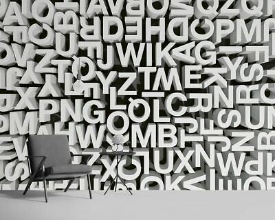 3D Typography - Photo Wallpaper Wall Mural, Non-woven Fabric • 38£