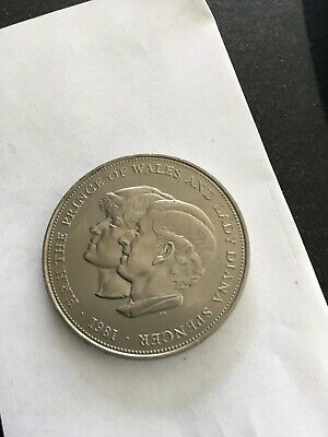 HRH The Prince Of Wales &Lady Diana Spencer 1981 Commemorative Coin • 7.50£