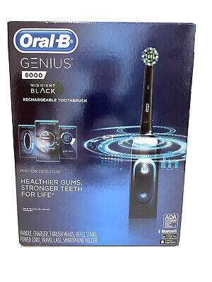 AU116.18 • Buy New Sealed Oral-B Genius 8000 Rechargeable Electronic Toothbrush Midnight Black