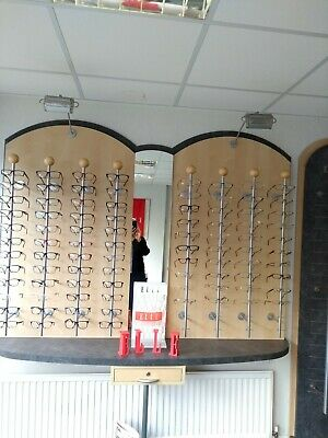 Optical Optician Consulting Room Equipment Frame Poles Testing Mirror Books VGC • 60£