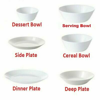 £7 • Buy Ikea OFTAST Skinny White Dinner Plates, Side/Deep Plates And Bowls, Make Own Set