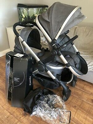 Icandy Peach Double Pushchair Newest Model Grey Check • 95£