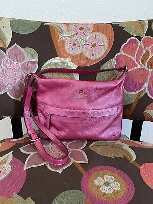 $ CDN25.20 • Buy Kate Spade Grant Park Starla Crossbody Leather Shoulder Purse Metallic Pink