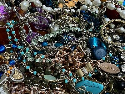 $ CDN32.82 • Buy (lot 9) Huge Lot Of Vintage To Now Costume Jewelry Lot 2.8 Lbs, Some Signed, 925