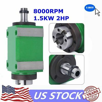 $267.03 • Buy BT30 Taper Spindle Unit 7:24 Mechanical Power Head&Drawbar For Drilling Milling