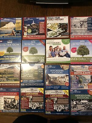 Who Do You Think You Are Genealogy CD Bundle (15 CDs) • 1.99£