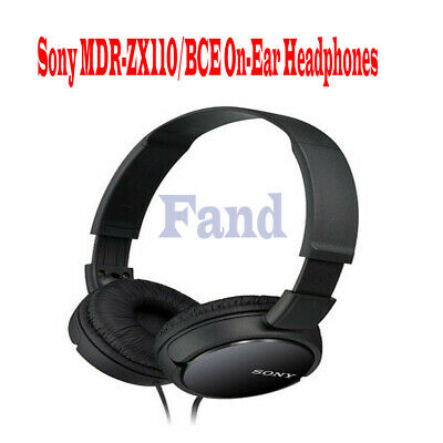AU38.99 • Buy New Sony MDR-ZX110AP Overhead Stereo Headphones With In-Line Control - Black AU
