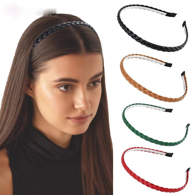 $ CDN2.88 • Buy Girls Braided Hair Bands For Women Thin Bezel Braided Headbands Hair Accessories