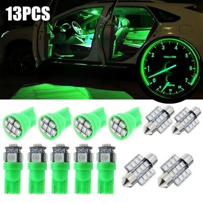 $ CDN7.58 • Buy 13x Green Car Interior LED Lights Dome License Plate Lamp Kit 12V Accessories