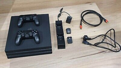 AU221.53 • Buy Sony PlayStation 4 Pro 1TB Black Console - Incl 2 Controllers & Charging Station