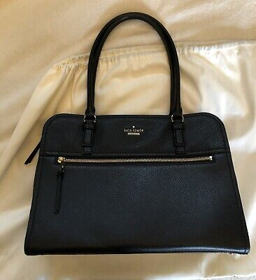 $ CDN495 • Buy NWOT Kate Spade Black Jackson Street Soft Leather Handbag Tote Shoulder Bag