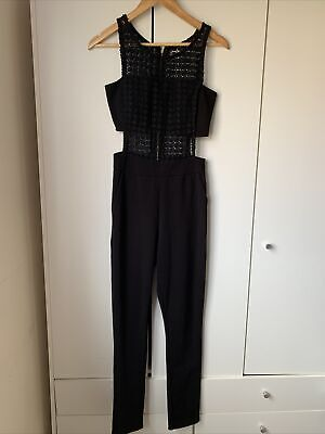 £9 • Buy New Look Black Jumpsuit With Lace Cut Out Body