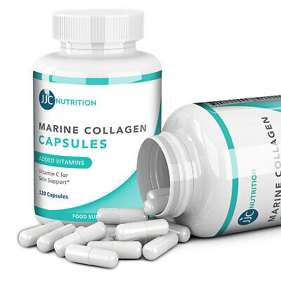 £13.99 • Buy 120 X Marine Collagen High Strength Capsules, Vitamin C & B3, 1000mg Supplement
