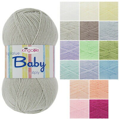 BIG VALUE BABY 4PLY Wool By KING COLE * Knitting Yarn * Various Colours • 3£