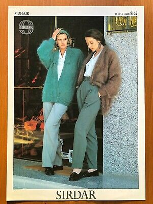 Sirdar 9162 Knitting Pattern Ladies Mohair Double Breasted Cardigan With Collar • 1.50£