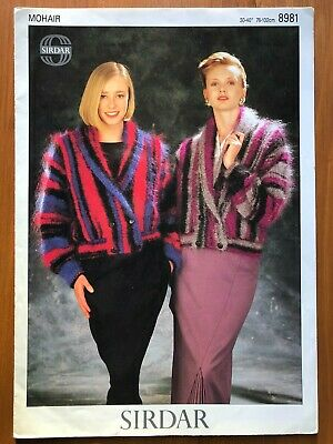 Sirdar 8981 Knitting Pattern Ladies Mohair Short Double Breasted Jacket • 1.50£