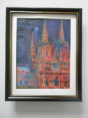 £19.95 • Buy Peter Hume Cathedral Print 'Lichfield' FRAMED