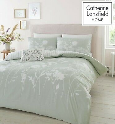 £20.69 • Buy Catherine Lansfield Meadowsweet Floral Easy Care Duvet Cover Bedding Set Green