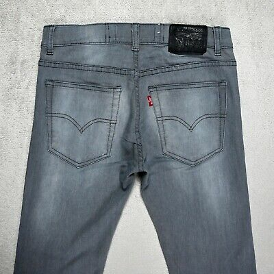 Boys LEVIS 519 Extreme Skinny Fit Jeans Size 16 YEARS Stretch Denim Faded Grey • 19.95£