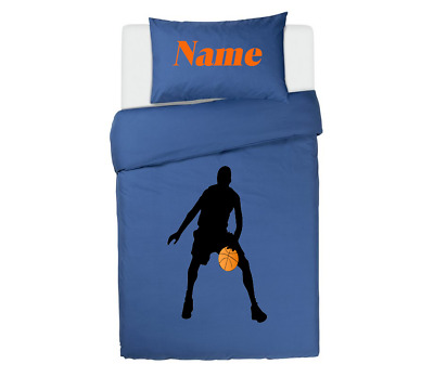 BASKETBALL PLAYER BLUE *PERSONALISED*  Duvet Cover/Bedding Set Single/double • 33.99£