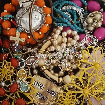 $ CDN37.86 • Buy Vintage Now Junk Drawer Jewelry Lot Unsearched Untested Estate All Wear L639