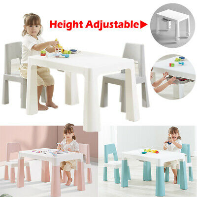 £39.96 • Buy Children Table And Chair Set Height Adjustable Toddler Activity Desk With Drawer