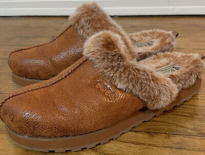 Bobs Skechers Memory Foam Faux Fur Lined Slip-On Mule Clog Size 9 • 18.81£