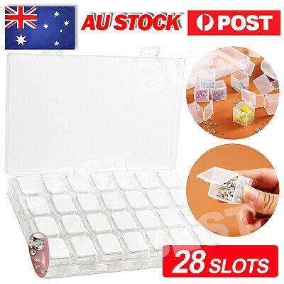 AU9.85 • Buy 28 Slots Bottles Diamond Painting Storage Box Kit Art Nail Accessories Case New