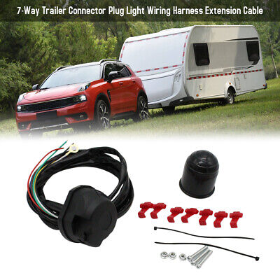 $ CDN26.95 • Buy 7-Way Trailer Connector Plug Light Wiring Harness Extension Cable G1G5
