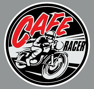 $2.38 • Buy Cafe Racer Motorcycle Logo Decal Sticker Choose Size 3M