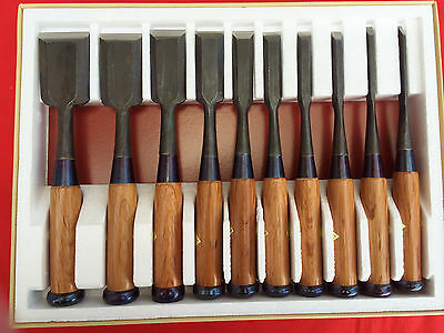 Set Of Ten  Japanese Bench Chisel  Hidari Tadatsuna  By Kikuhiromaru • 84.79£