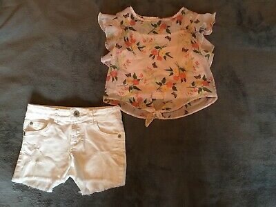 Girls Shorts And Blouse Outfit Blue Zoo Age 6 • 4£