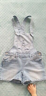 Girls Short Dungarees Age 11-12 Years • 2.50£