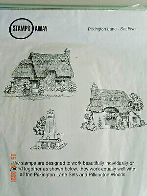 £7.99 • Buy New - Stamps Away - Pilkington Lane - 3 X Clear Stamps - Craftroom Clearout