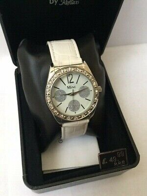 £12.95 • Buy Ladies Fashion Designer Look Crystal Mine Watch Brand New & Boxed Great Value