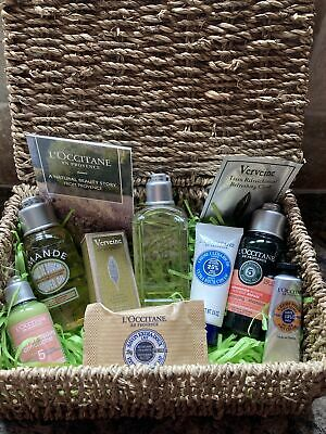 🎀 MOTHERS DAY 🎀 L'Occitane Gifts In Seagrass Hamper With Lid Inc 9 Items NEW • 19.25£